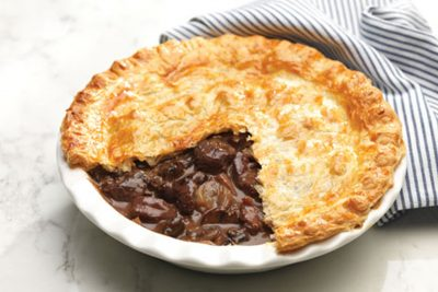 Delicious Beef Pie With Blue Cheese Crust