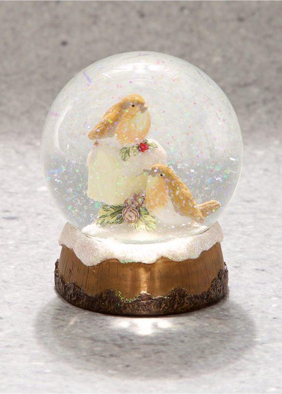 Robin Christmas Snowglobe, £6