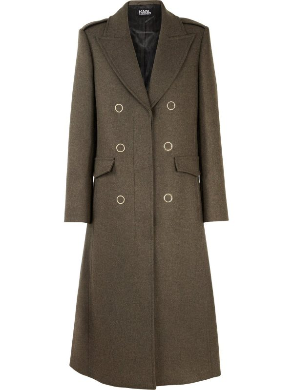 Karl Lagerfeld Masculine Coat With Lacing