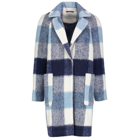 Textured Check Formal Coat