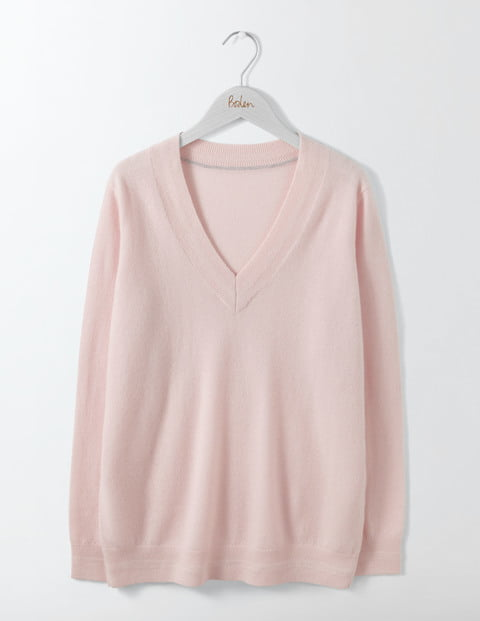Cashmere Relaxed V-Neck Jumper, £130, Boden