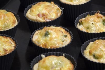 Tangy Leek and Roquefort Tartlets