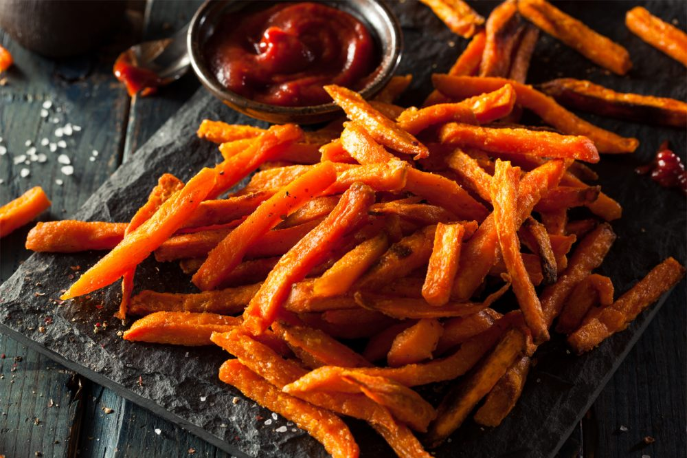 Perfectly Garlicky Sweet Potato Fries