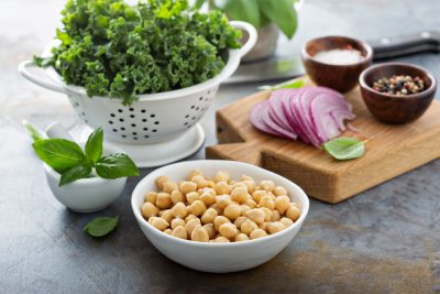 Garlicky Kale and Chickpea Salad