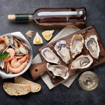 Extra Special Oysters with Champagne Granité