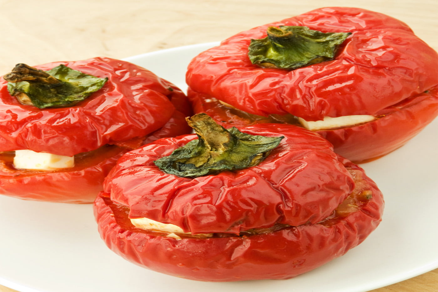 Vegetarian Feta & Shallot Stuffed Peppers