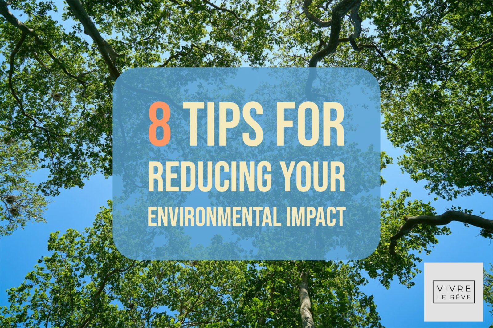 8 Tips for Reducing Your Environmental Impact
