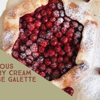 Delicious Cherry Cream Cheese Galette
