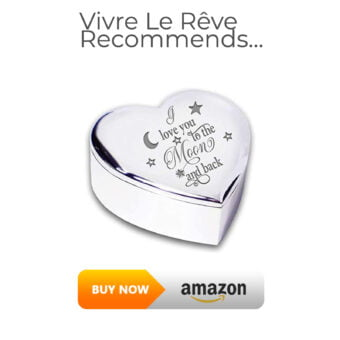 I Love You To The Moon and Back Silver Trinket Box